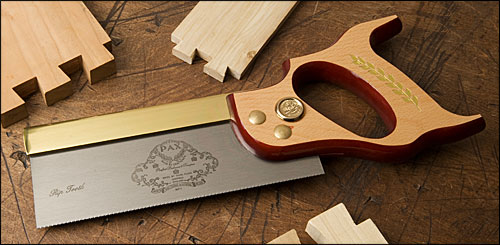 Lee Valley Tool's Pax Rip Pattern Dovetail saw is a great example of a Western backsaw, great for case and tenon work.