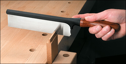 Lee Valley Tool's Veritas Gen't saw is a classic small English style back saw, perfect for dovetails.
