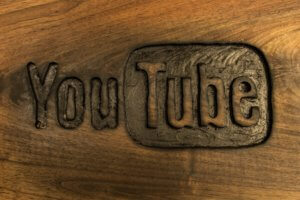 Hand Carved YouTube logo