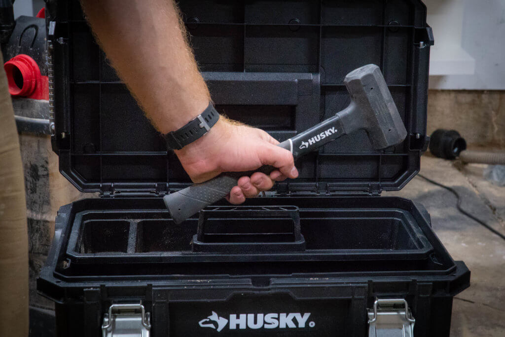 Husky rubber handle deadblow Hammer second order shop organization