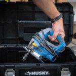 aldi jigsaw in husky rolling toolbox