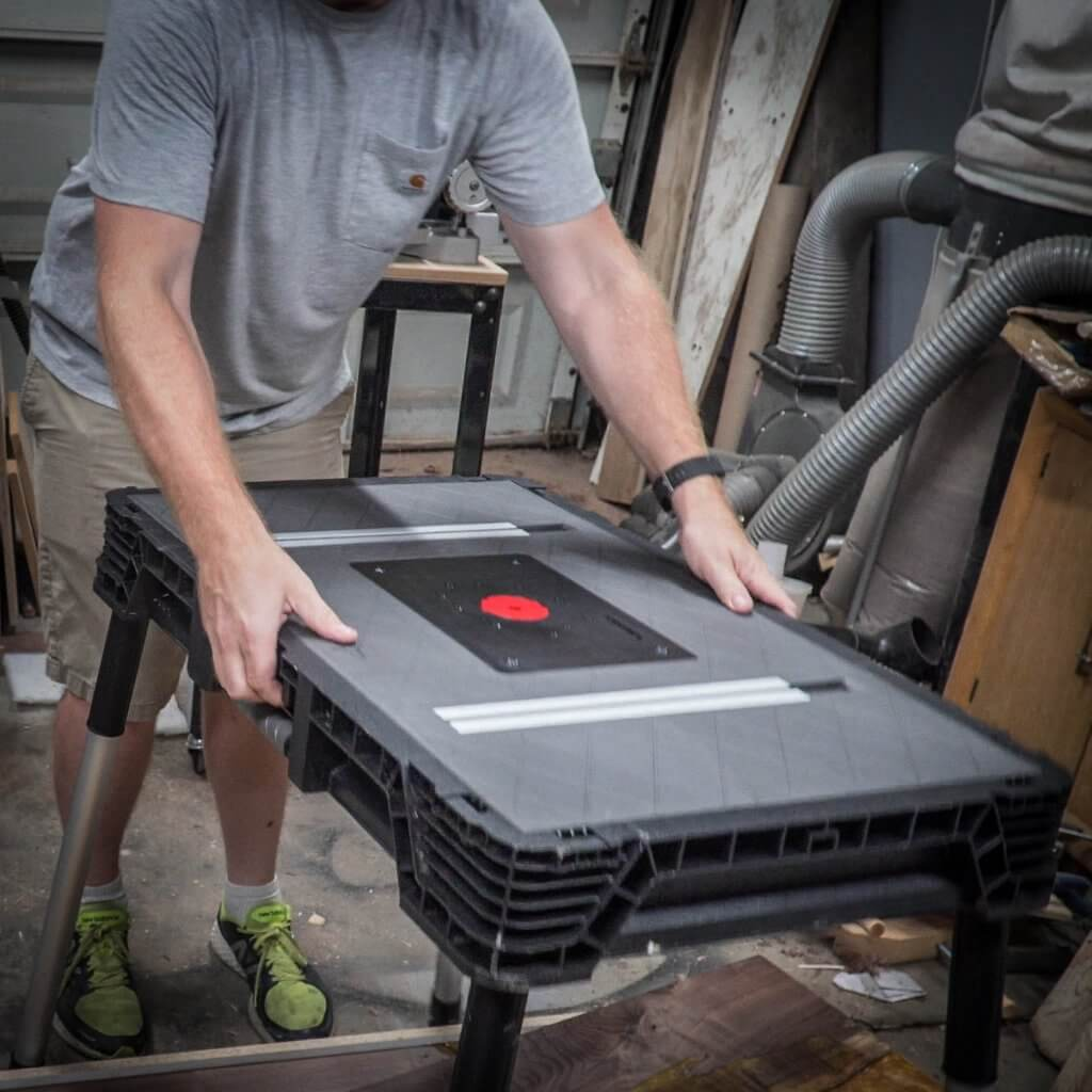 husky portable router table