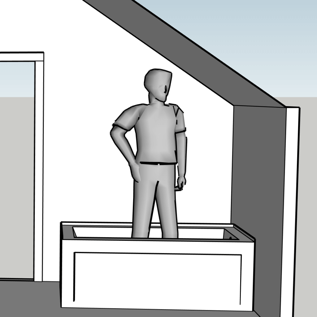 sketchup bathroom layout