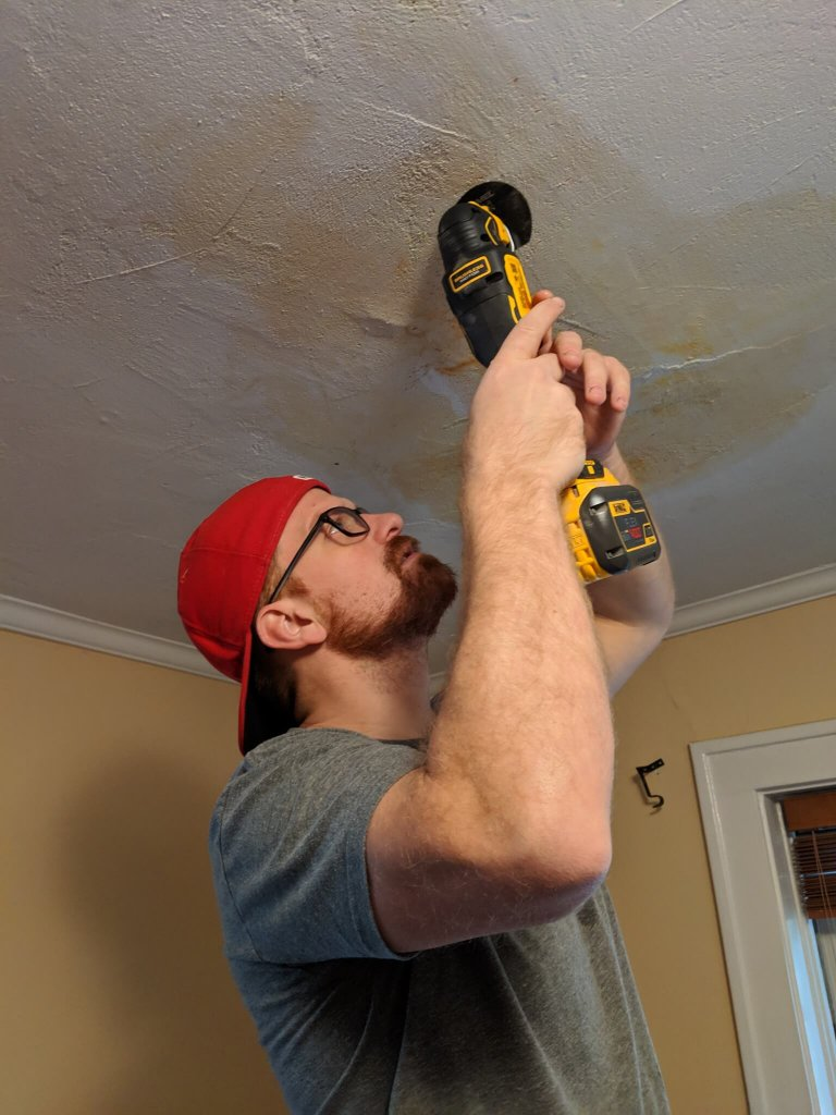 plaster ceiling leak repair