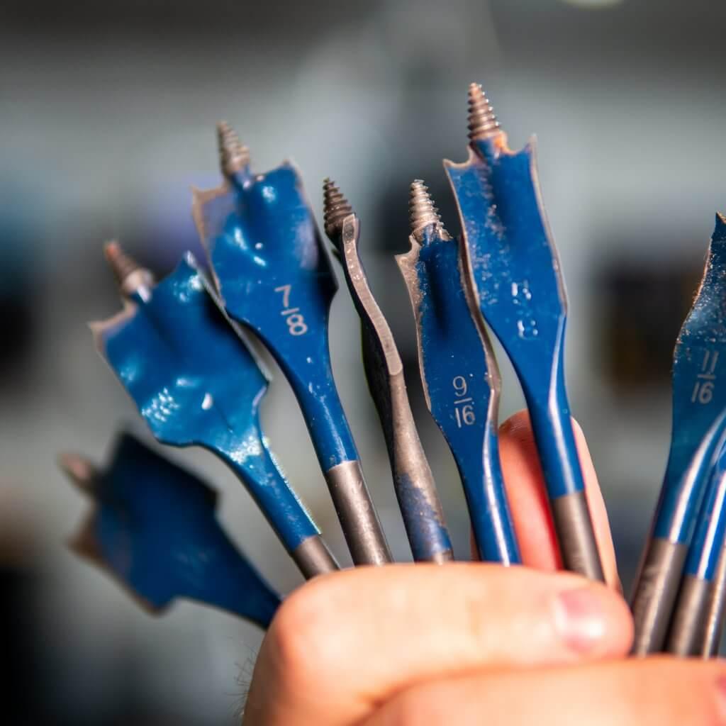 Bosch daredevil spade bits in hand