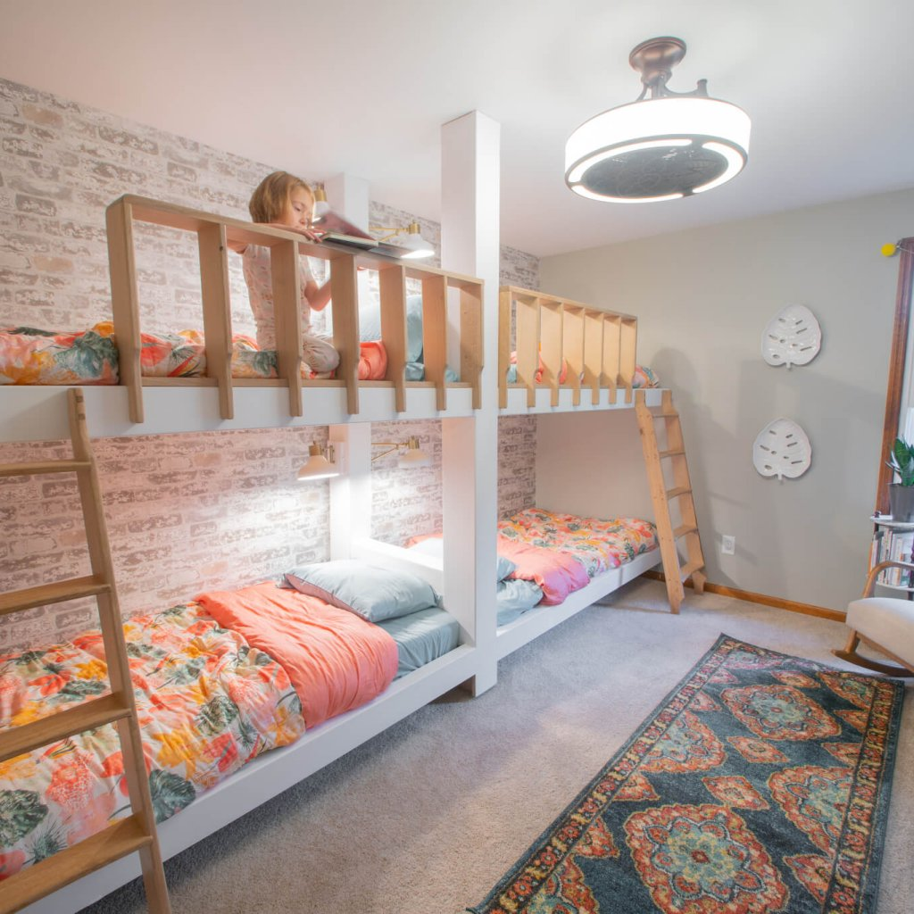 Picture of: Diy Built In Quad Bunk Bed Plans Wood Work Life
